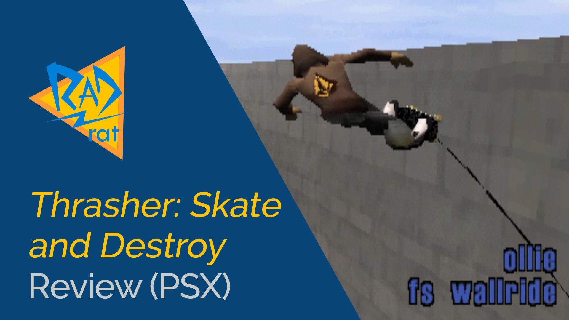 Long Before There Was Skate Thrasher The Most Realistic Skateboarding Sim Of PlayStation Era I Loved This Game Back In Day